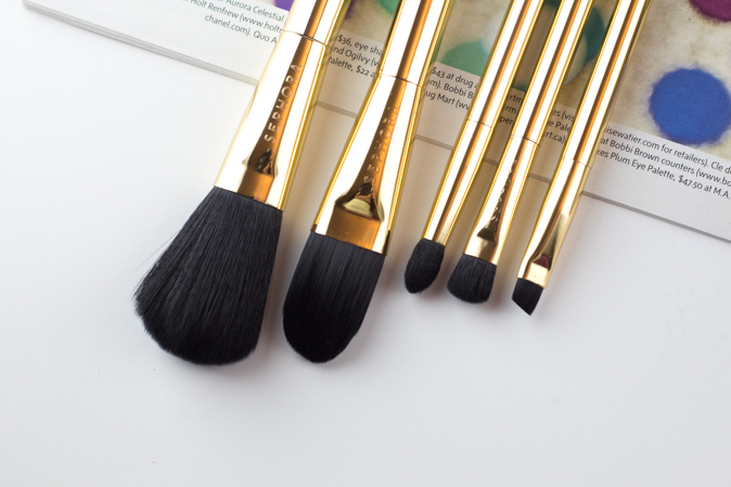 sephora gold star skinny brush set review