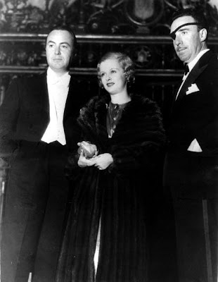 Joan Bennett with second husband Gene Markey and director Raoul Walsh in 1932