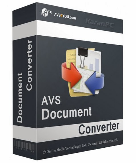 Download AVS Document Converter 2 3 1 232 Incl Activator [KaranPC]