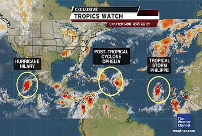 Ophelia, Philippe, Nesat, Philippinen, Taifun Typhoon, Hilary, major hurricane, Verlauf, Vorhersage Forecast Prognose, September, 2011, Hurrikansaison 2011, Taifunsaison,