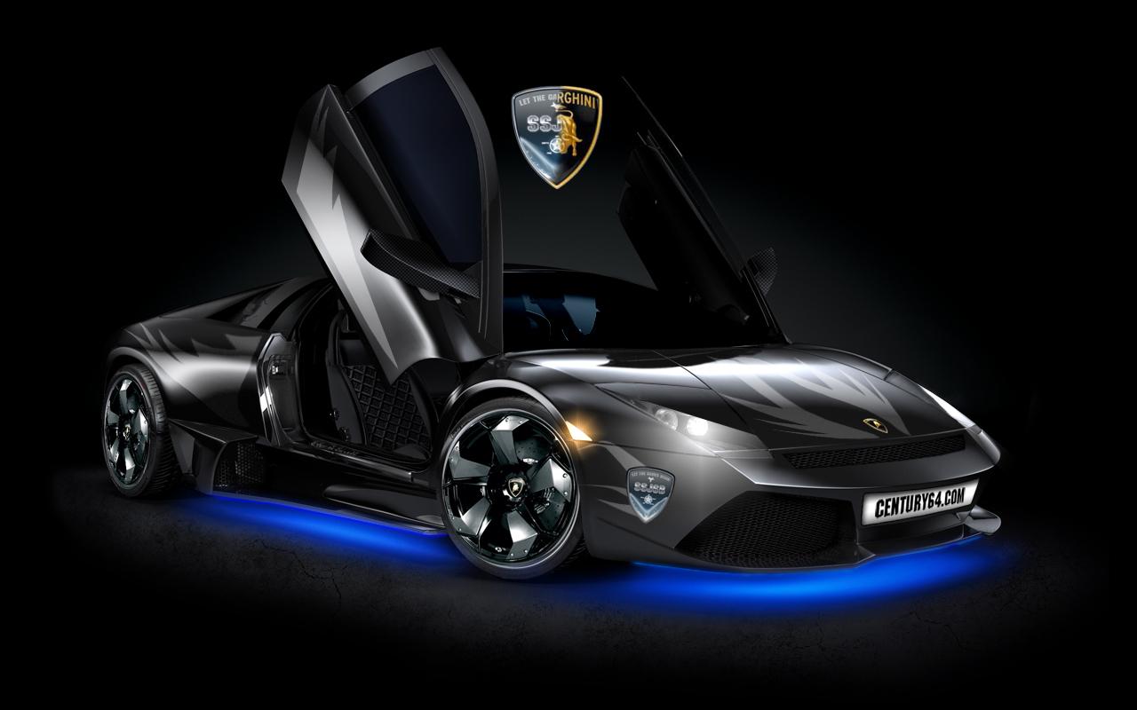 1230carswallpapers Lamborghini Gallardo Wallpaper Black