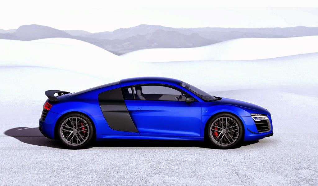 2015 Audi R8 LMX Ara Blue Crystal Effect Side Wallpaper