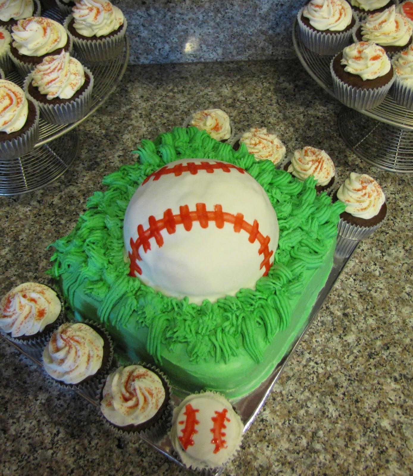 Celebrate My Whimsy: Baseball Cake