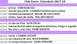 Calendario de lecturas 2017-18