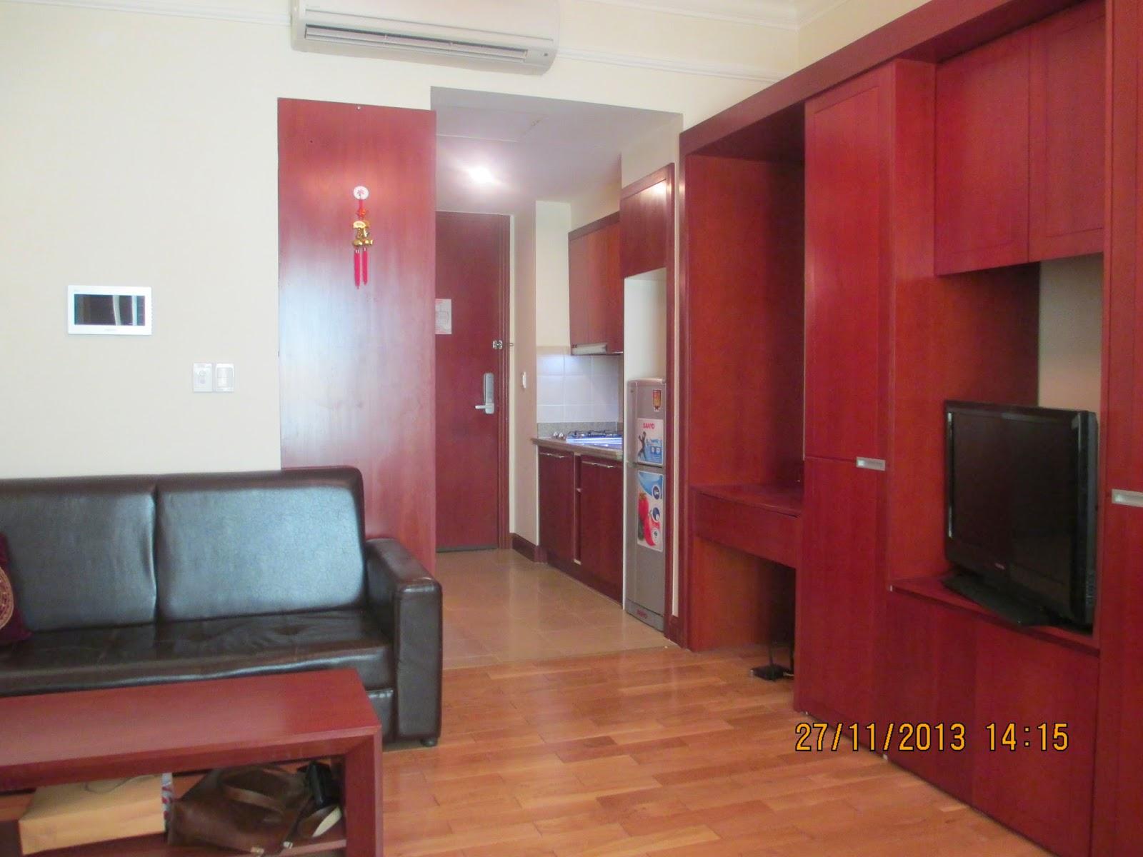 Phòng khách căn hộ The Manor