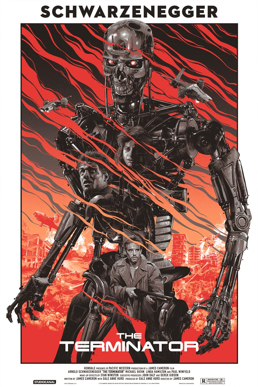 The Terminator Variant Screen Print by Grzegorz Domaradzki