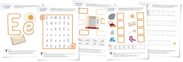 Teaching Blog Addict: FREE Letter E worksheets for kids