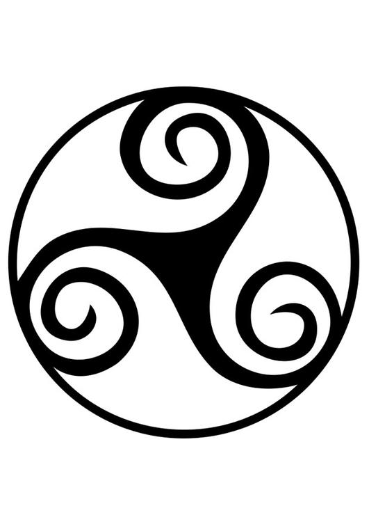 Símbolos celtas o célticos. Simbolo-celta-trisquel-t19189