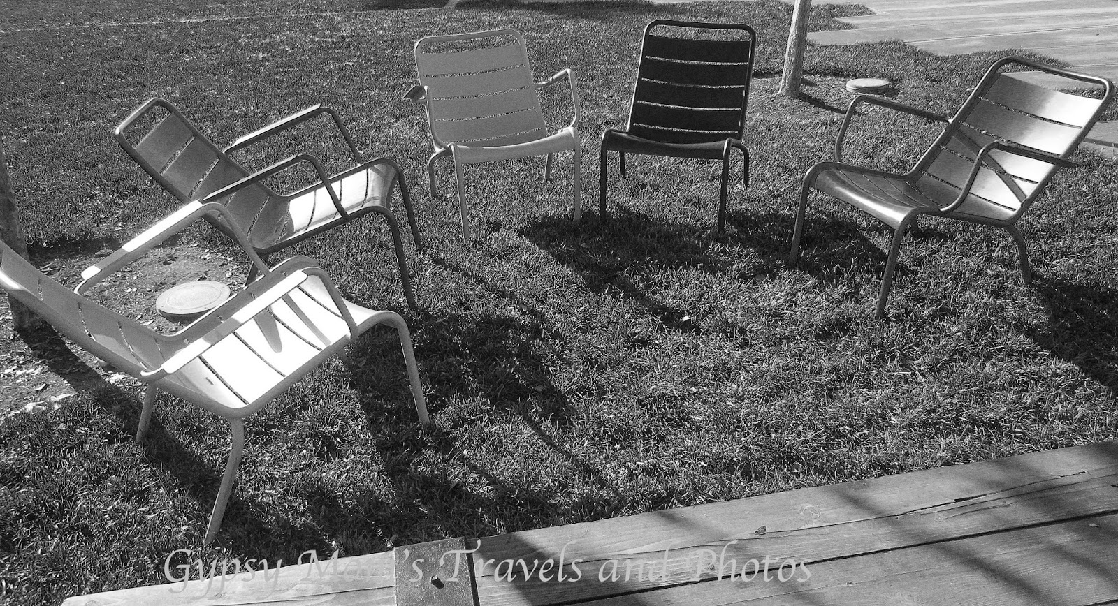 Chairs in Farmers' Park in Anaheim