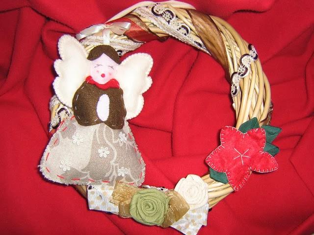 Ghirlanda angelo del Natale
