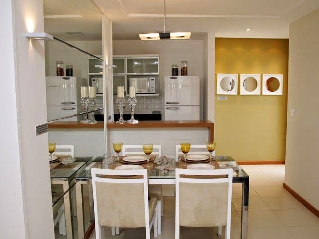 Sala Pequena Em L Decorada ~ 20 Salas de jantar pequenas!!  Jeito de Casa  Blog de Decoração