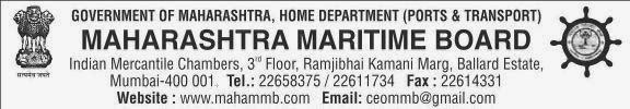 MAHARASHTRA MARITIME BOARD (MMB) Officer Recruitment 2013 Mumbai