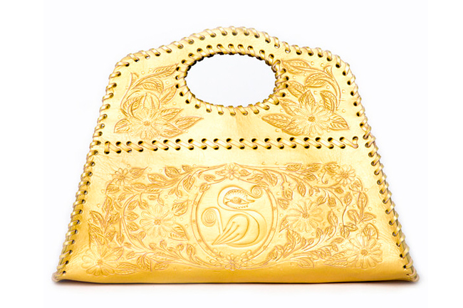 Sara Melissa Designs, metallic bag, gold