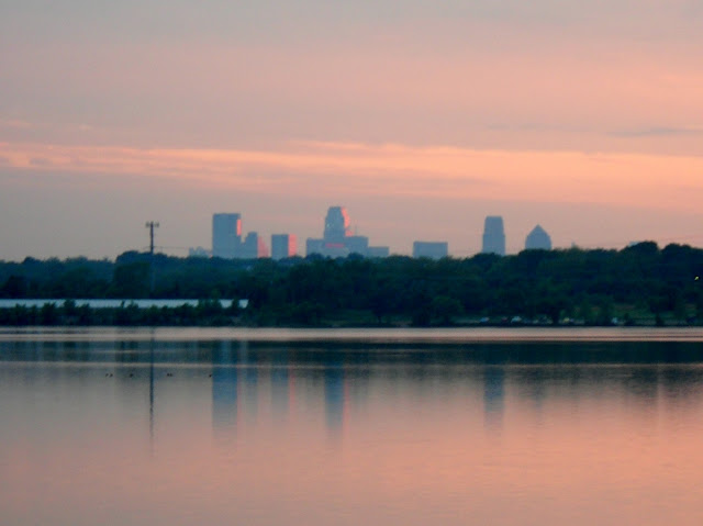 Downtown Dallas seen from White Rock Lake