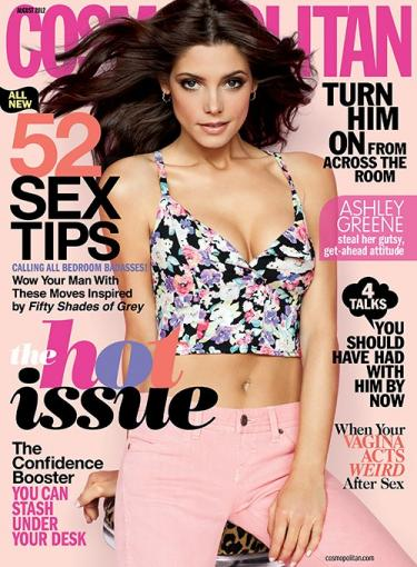 Ashley Greene, Major Cleavage Cover Cosmo » Gossip/Ashley Greene