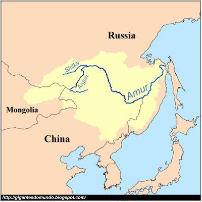 Mapa Rio Heilong
