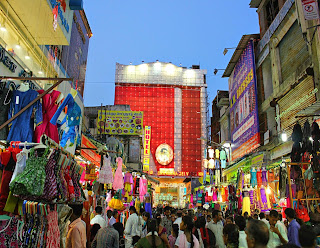A Busy Street In Chennai