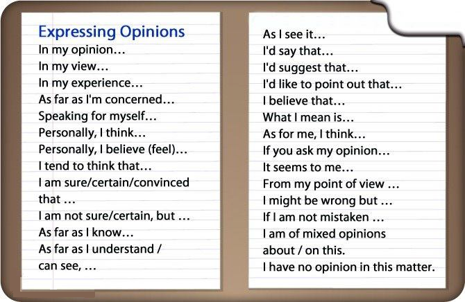 Phrases bank for academic writing