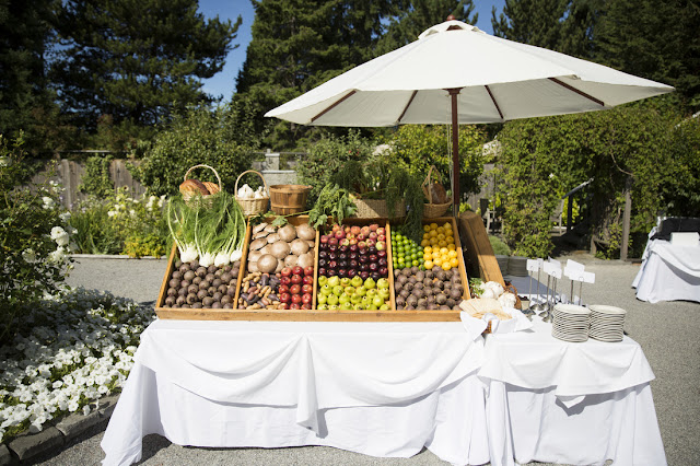 Valley & Co. Events fruit and veggie stand