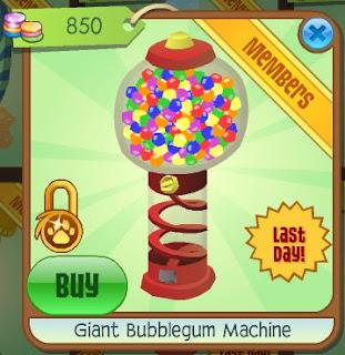 bubble gum machine aj