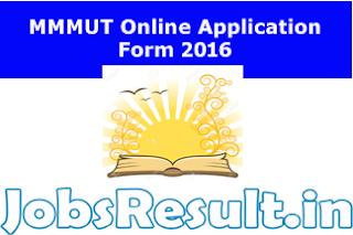 MMMUT Online Application Form 2016