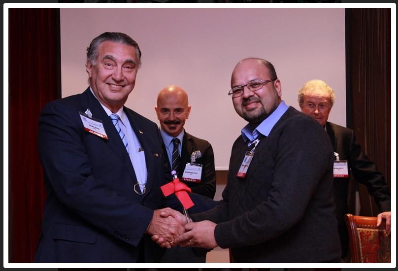Dr M Khawar Nazir with Dr Luiz Toledo