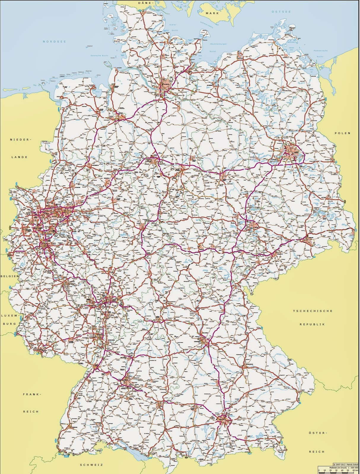 german autobahn network
