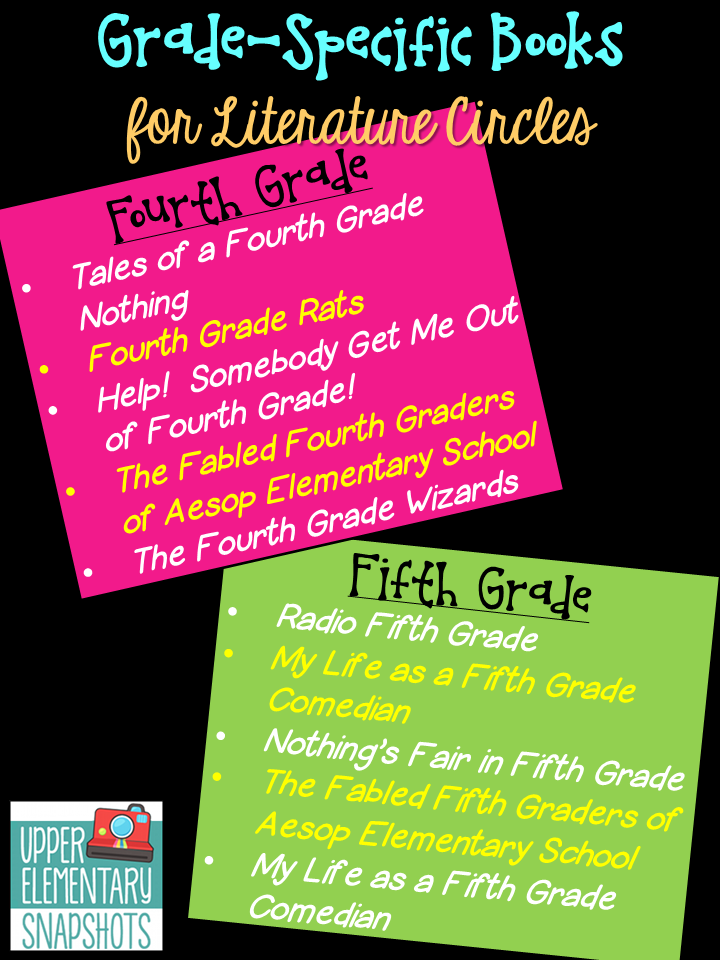 Cheers For Elementary Classrooms ~ Upper elementary snapshots literature