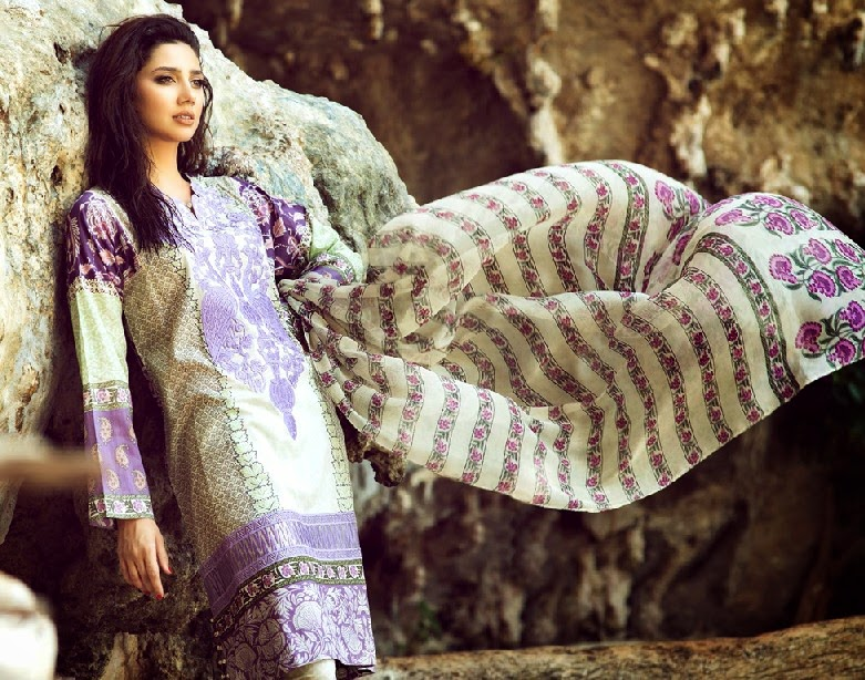 ELANLawnSpring SummerCollection2014 wwwfashionhuntworldblogspotcom 02 - Elan Lawn Spring Collection 2014 By Khadijah Shah