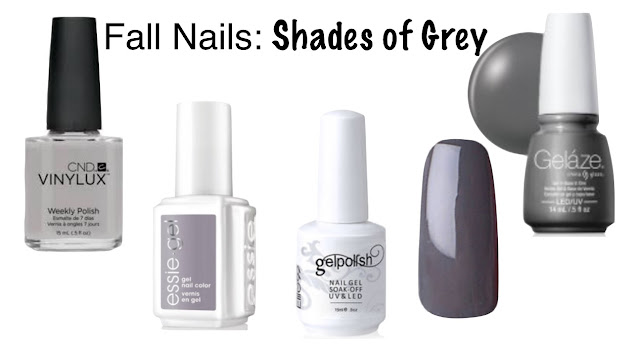 grey nails fall nails parlor girl