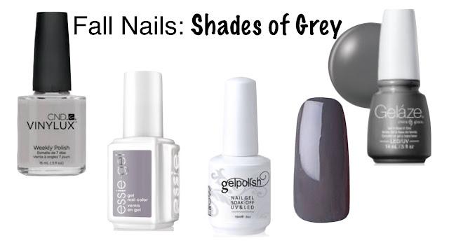 grey nails fall nails parlor girl