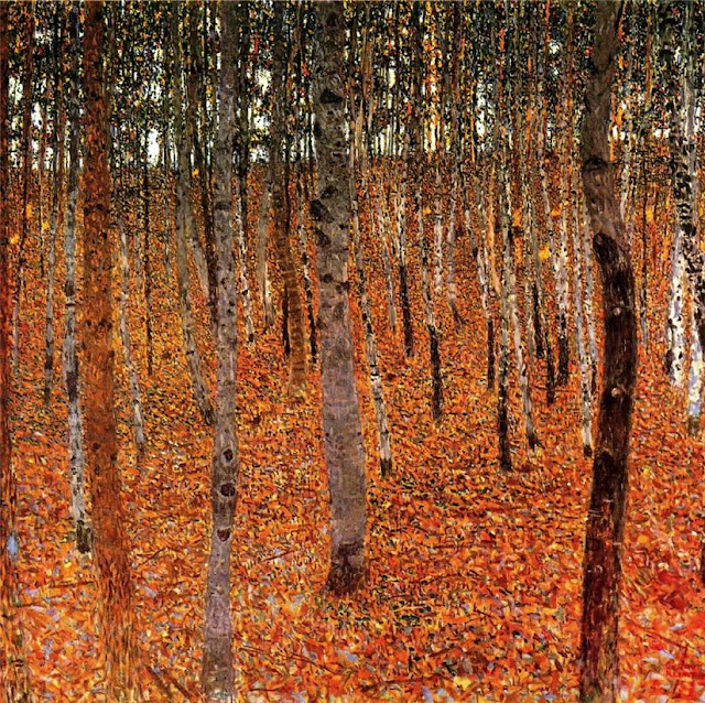 осень в живописи Gustav Klimt