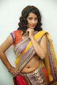 santoshini sharma photos in half saree-thumbnail-19