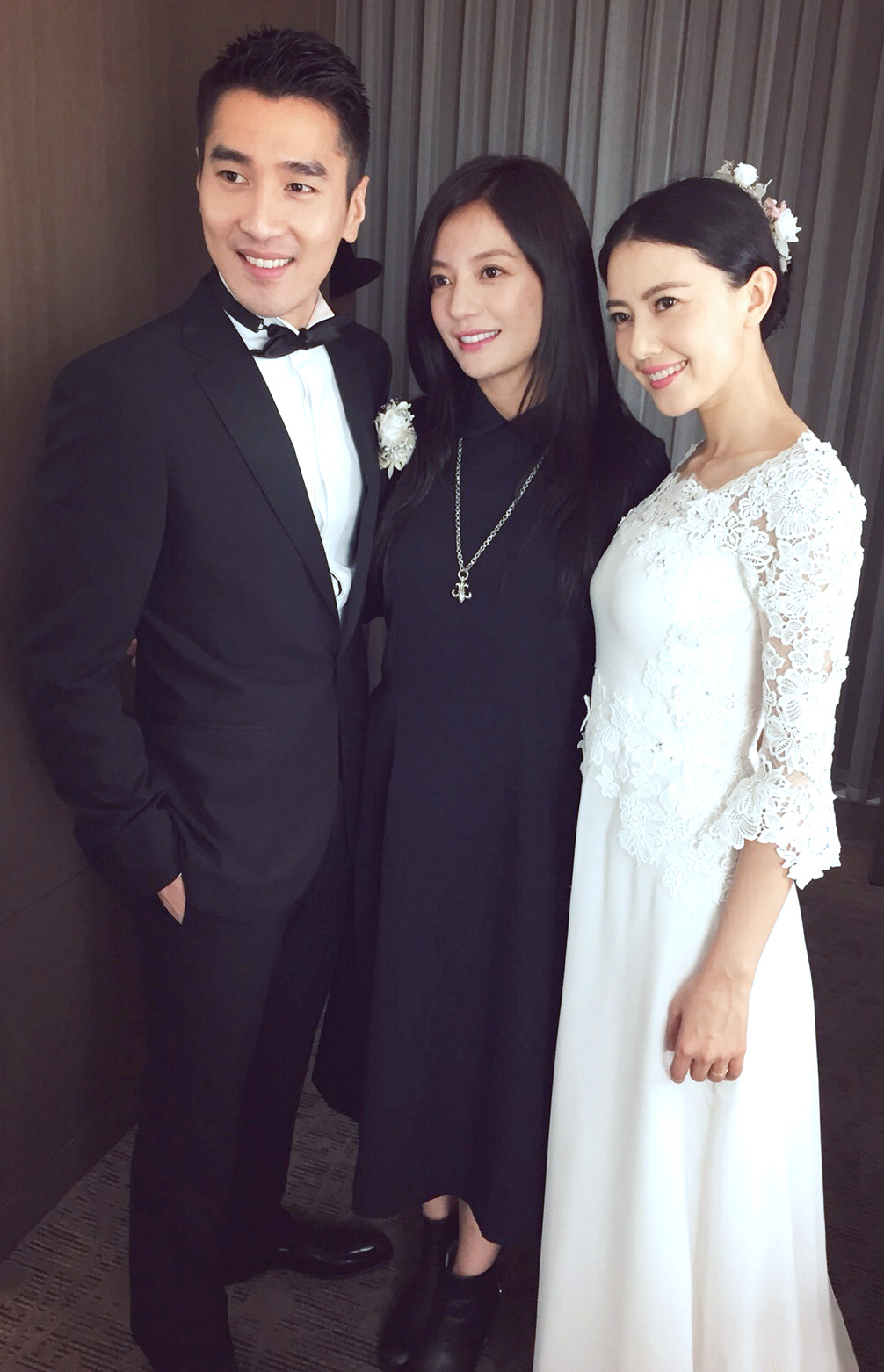 dramaxstyle celebrity wedding mark chao and gao yuan