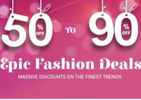 Buy Snapdeal Epic Fashion Deals at flat 50% to 90% Off :Buytoearn
