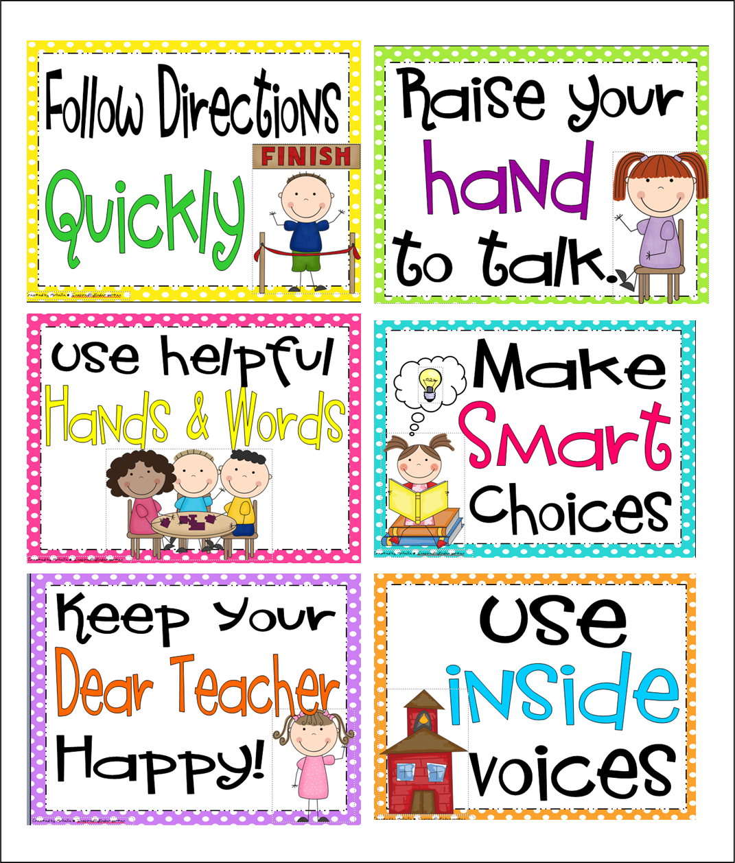 Classroom Rules Ideas ~ Inspired by kindergarten