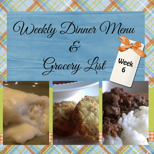 http://gloriouslymade.blogspot.com/2013/04/weekly-dinner-menu-and-grocery-list.html