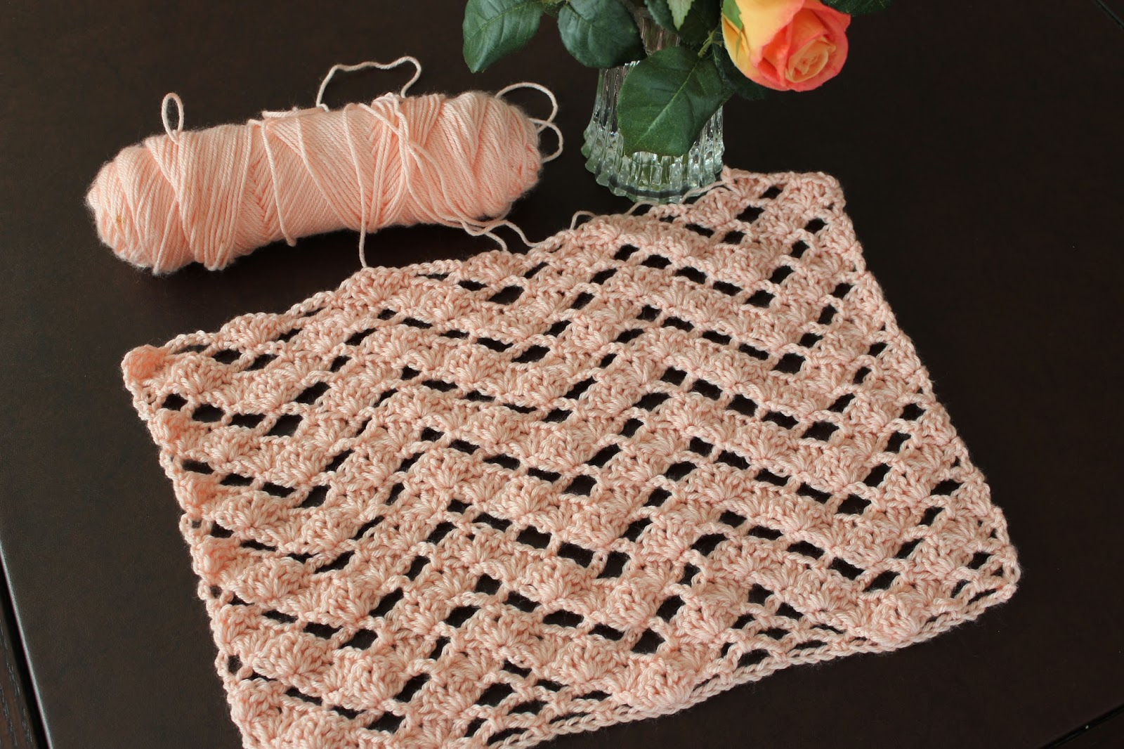 Crochet Stitches Ripple Afghan : Lacy Crochet: Lacy Ripple Crochet Stitch