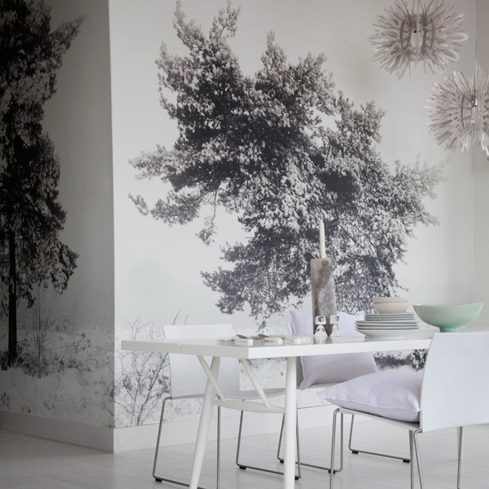 New home interior design weird and wonderful dining rooms for Black n white dining rooms