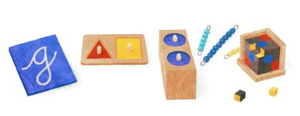 Logo Google Peringati Kelahiran Maria Montessori