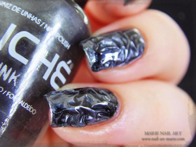 Nail Art effet métal froissé 3D10