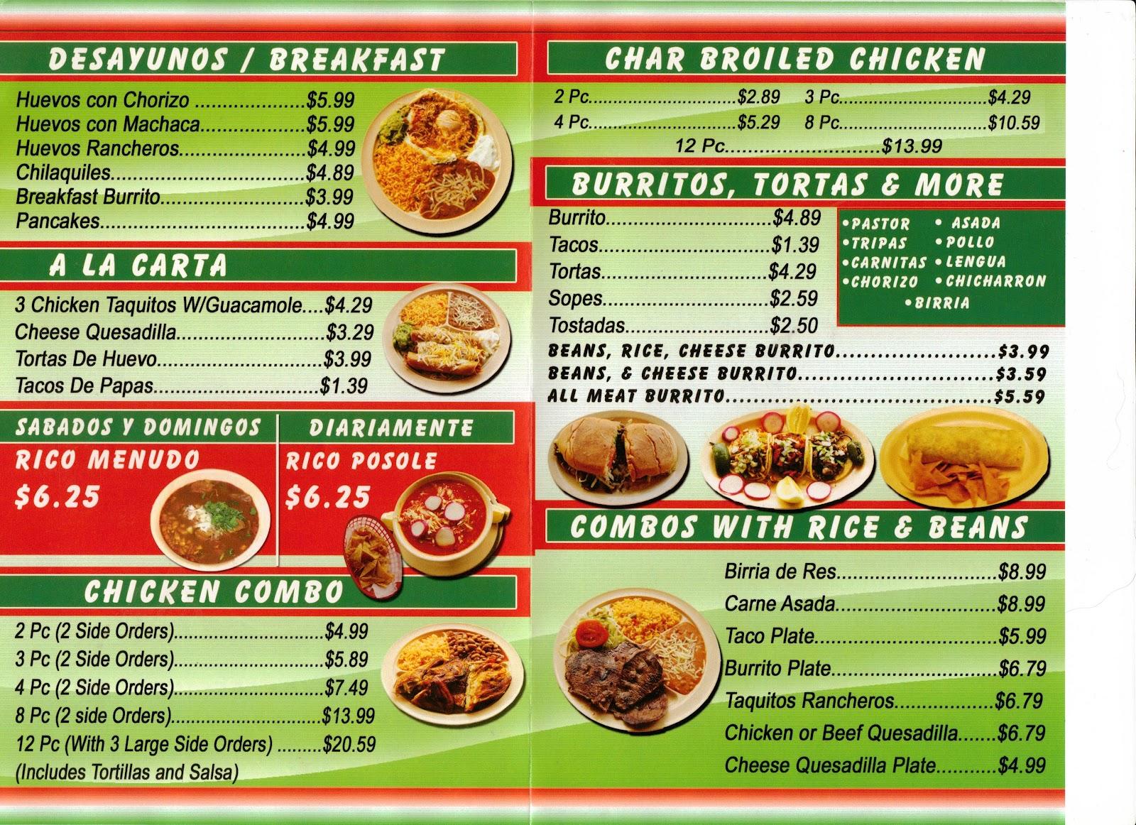 vc menu: gutierrez mexican restaurant - moorpark
