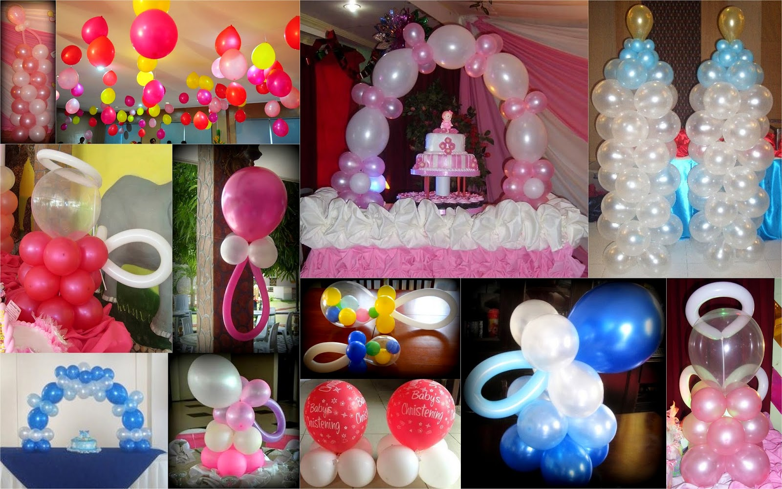 Christening baptismal dedication and baby shower balloon for Baby shower decoration packages