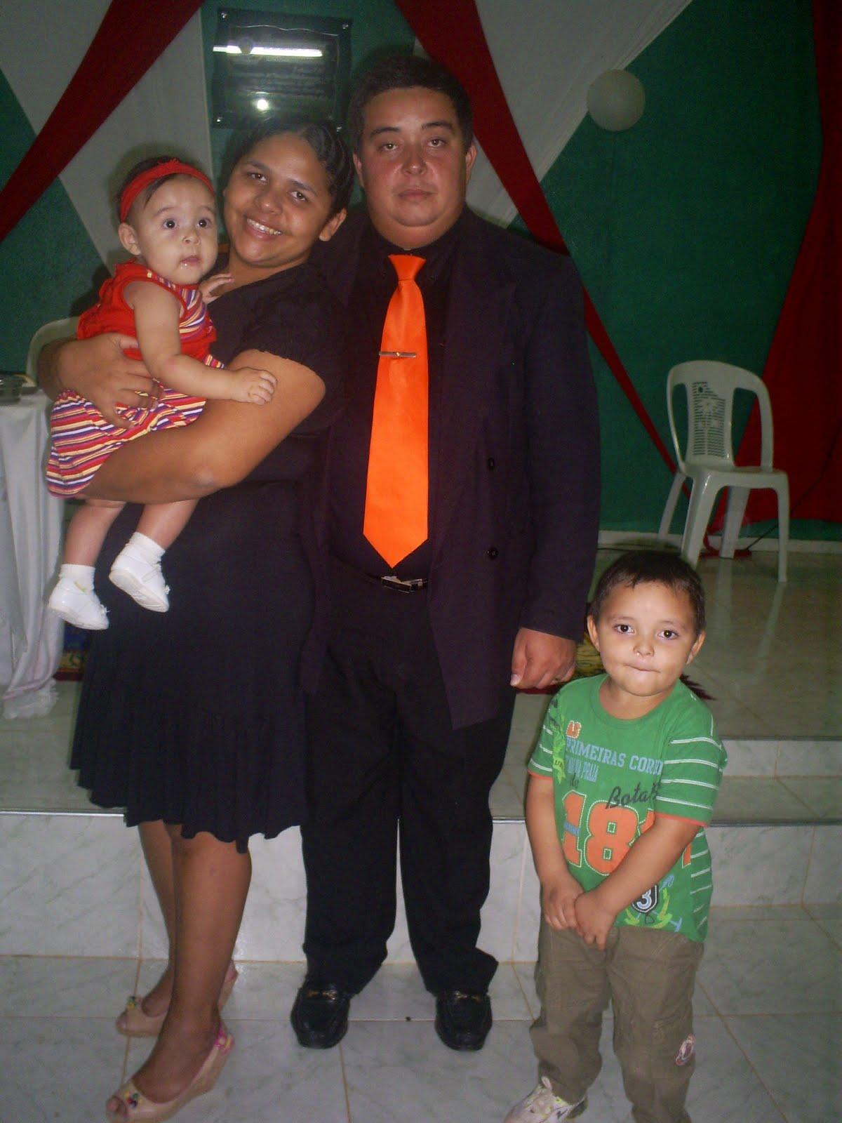 Pastor Valtenor e Familia - atual pastor da igreja ADBV na cidade de Iracema