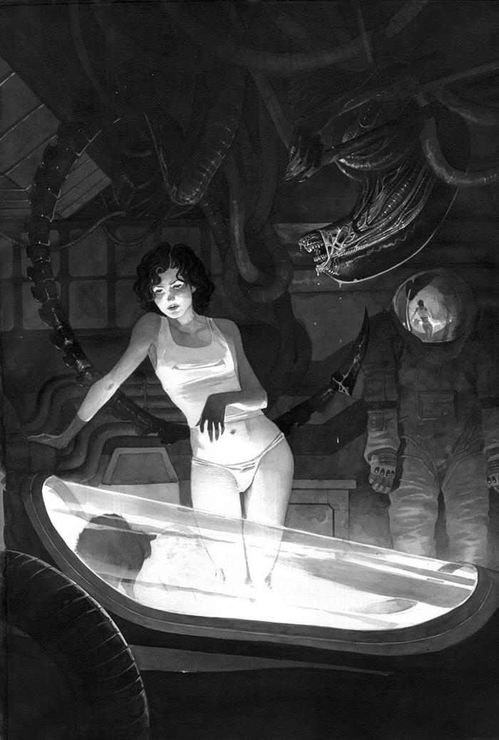 Alien retratada por LordMishkin