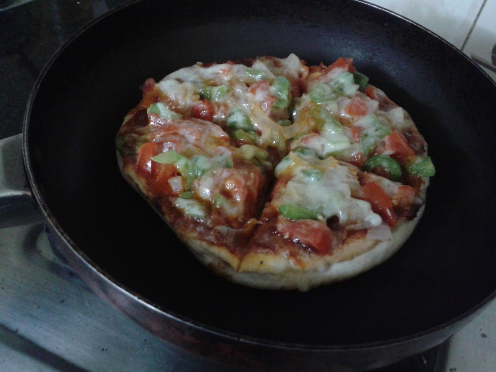 Tawa Pizza Recipe -  Pan Pizza