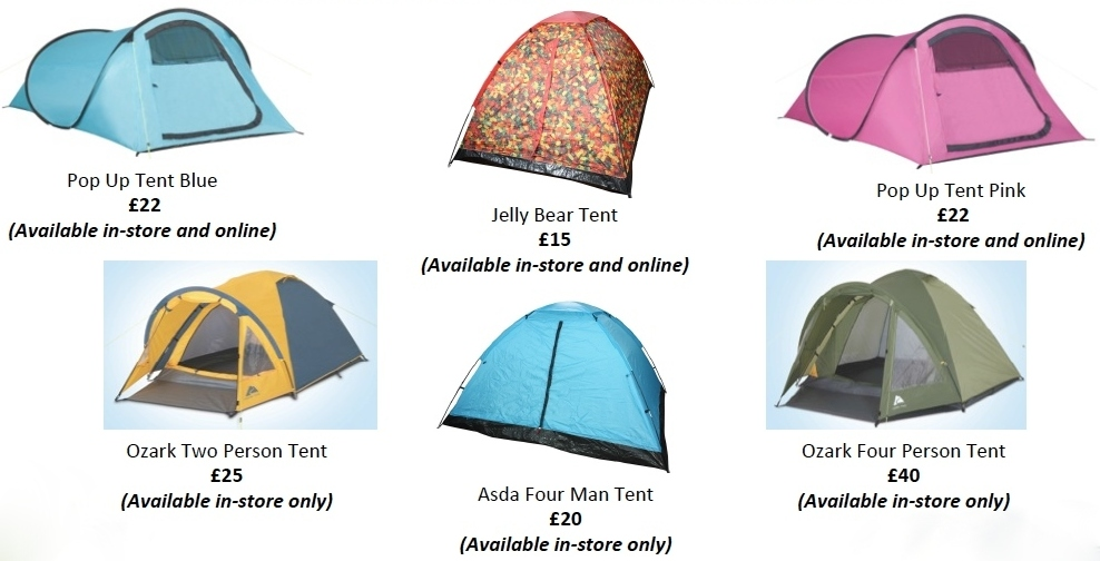 The range of practical tents are not only useful for making your c&ing trip or festival stay hassle free this summer but they are also kind to your bank ...  sc 1 st  Where Roots And Wings Entwine & Where Roots And Wings Entwine: Camp with Asda this summer.