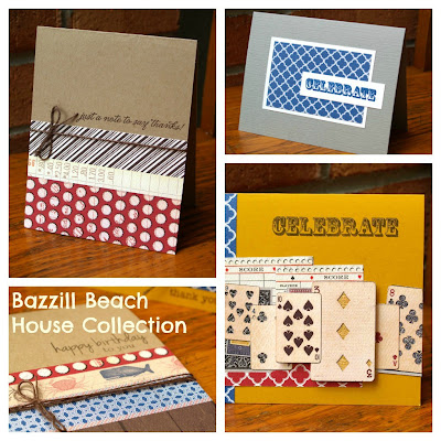 Bazzill Beach House cards by Laura Williams, www.lauralooloo.blogspot.com