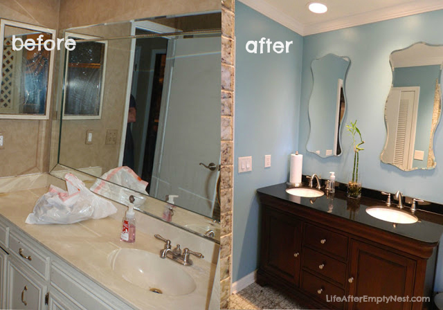 Fabulous The transformation of this guest bathroom is simply amazing Life after the Empty Nest surely acplished her goal of Kicking the us out of the Guest