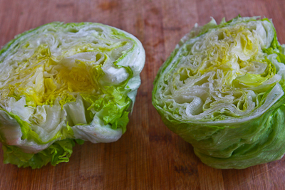... the very inner leaves aren't big enough for making a lettuce wrap